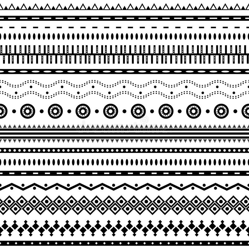 Azteeks naadloos patroon. stock illustratie