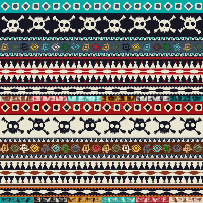 AZTEEKS patroon vector illustratie