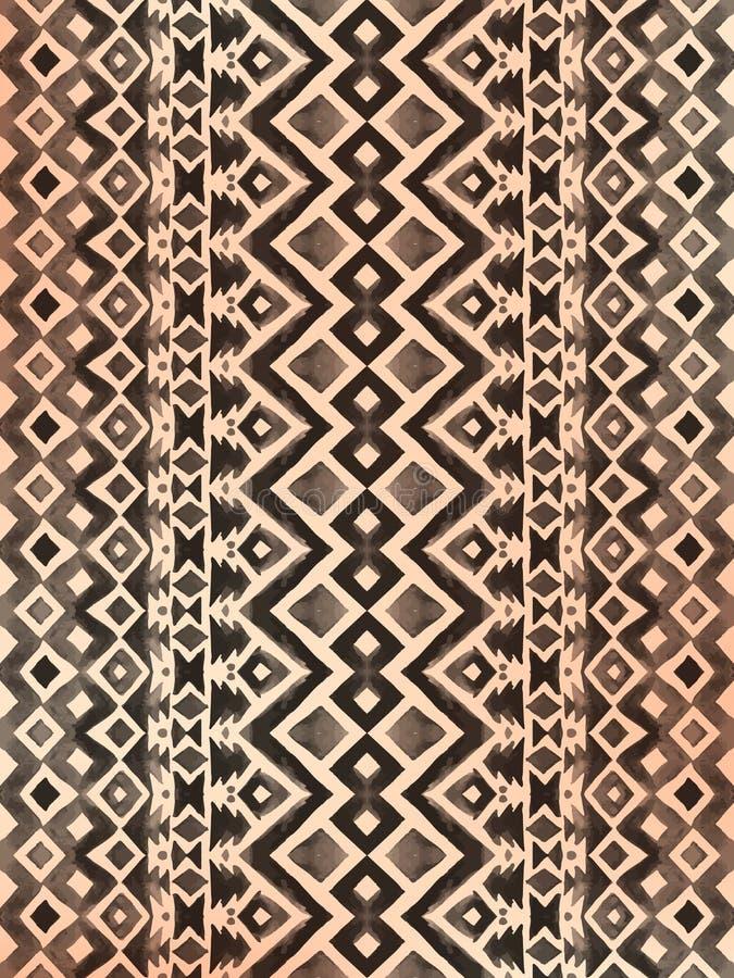 Azteeks stammen Mexicaans naadloos patroon royalty-vrije illustratie