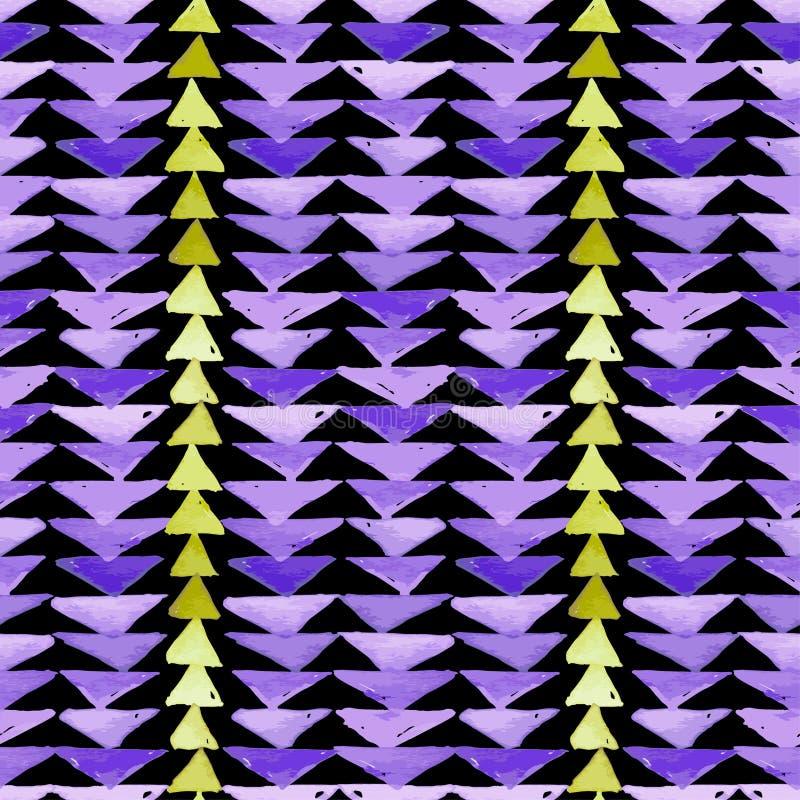 Azteeks textiel de inspiratie naadloos patroon van Navajo Americ inwoner vector illustratie