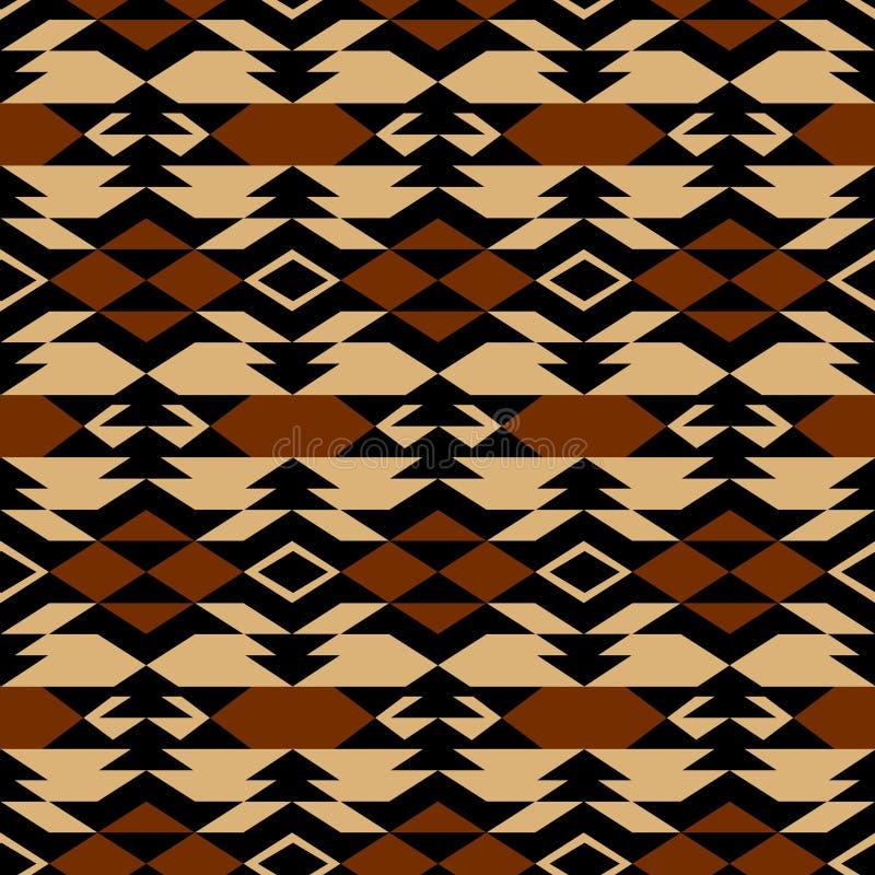 Azteeks textiel de inspiratiepatroon van Navajo Inheemse Indiaan vector illustratie