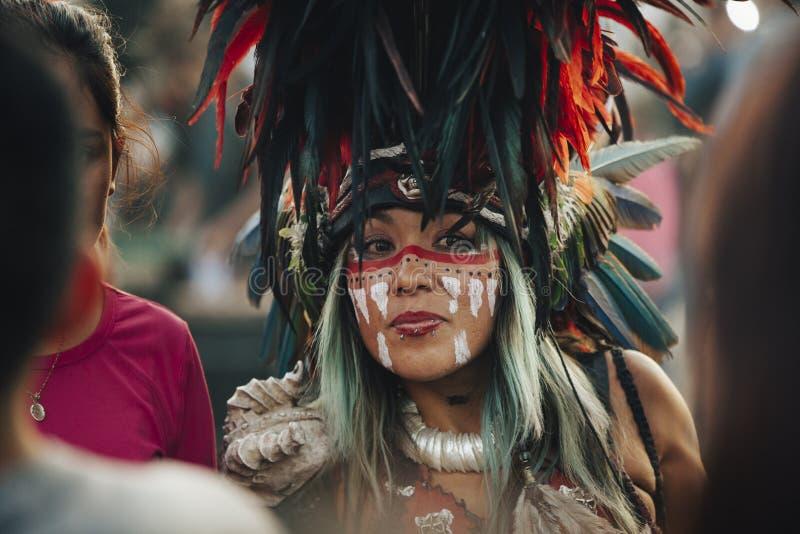 Azteekse dansen, Mexico-City royalty-vrije stock afbeelding