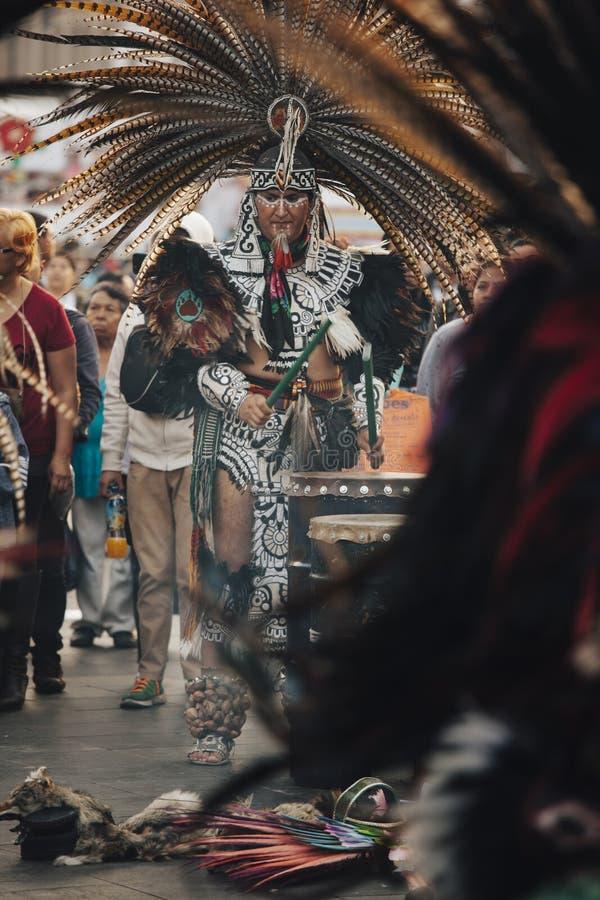 Azteekse dansen, Mexico-City royalty-vrije stock fotografie