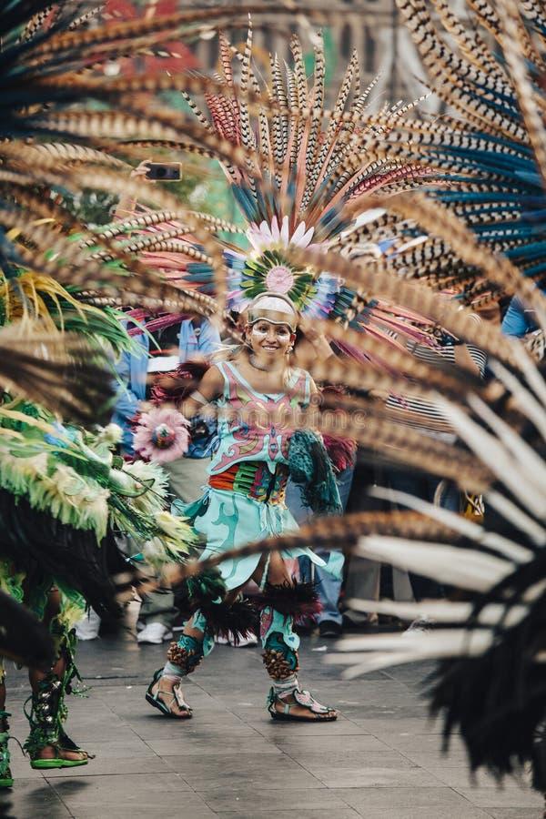 Azteekse dansen, Mexico-City stock foto