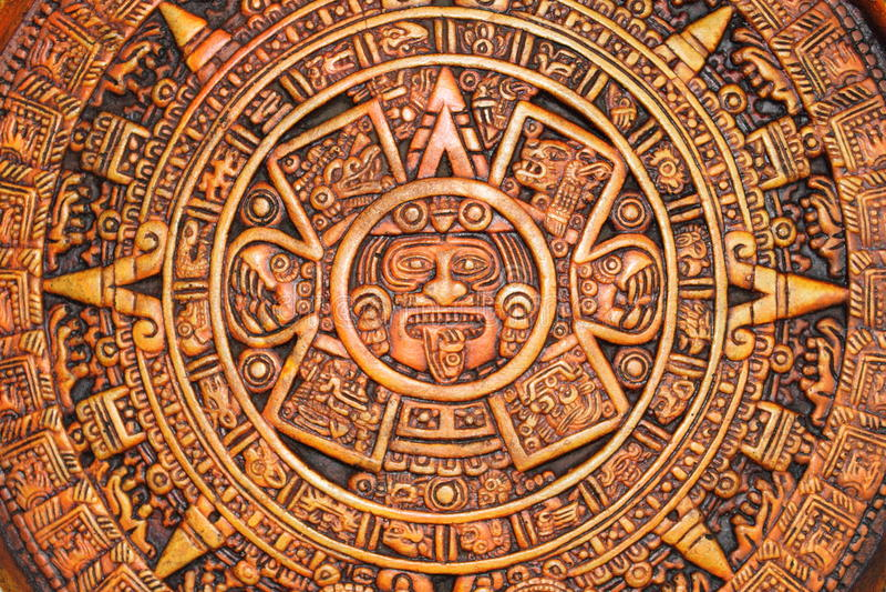 Azteekse kalender royalty-vrije stock foto