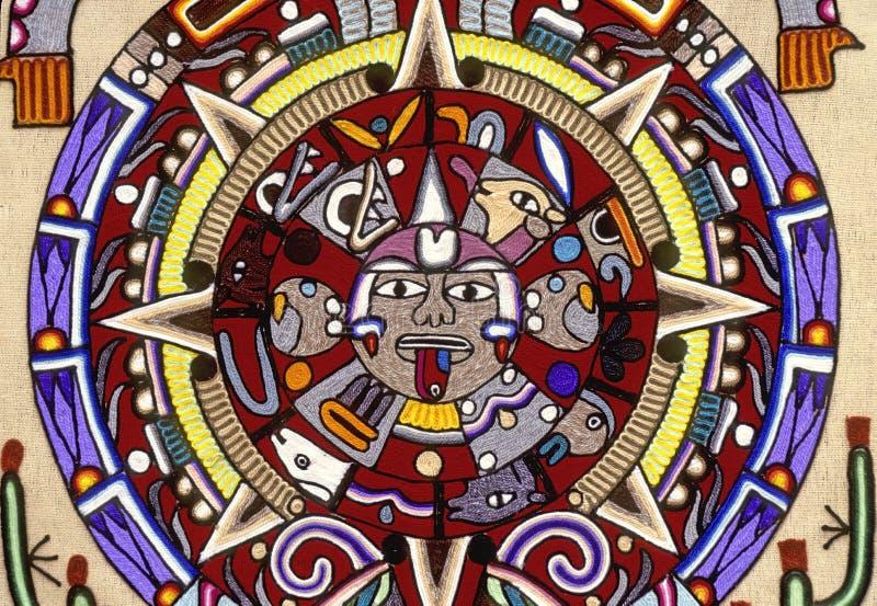Azteekse kalender royalty-vrije stock afbeeldingen