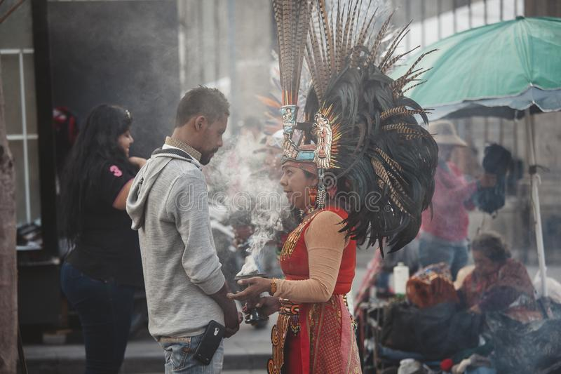 Azteekse Medicijnman, Mexico-City royalty-vrije stock fotografie