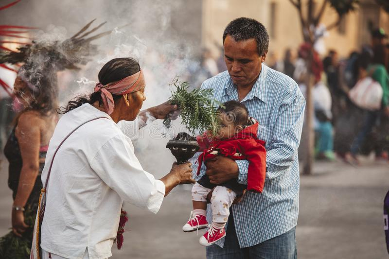 Azteekse Medicijnman, Mexico-City royalty-vrije stock foto
