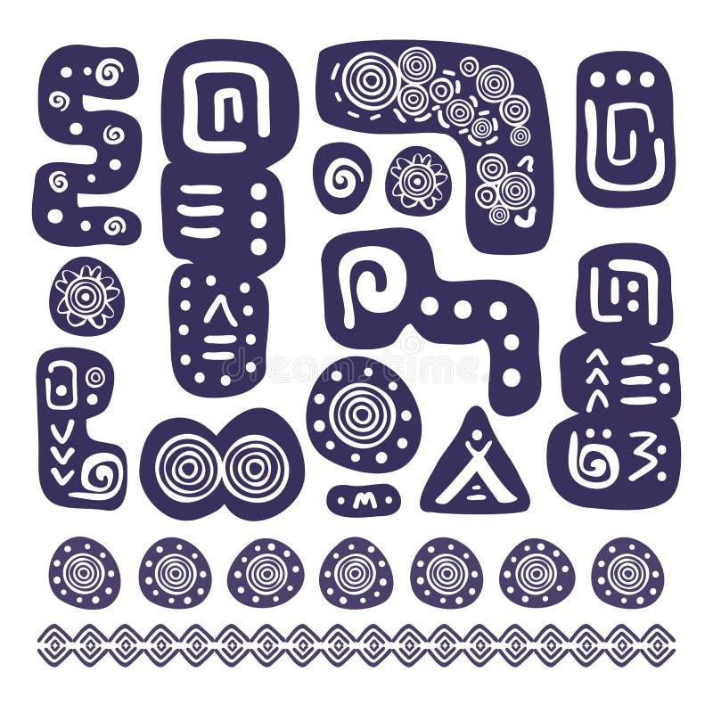 Azteekse ontwerpelementen vector illustratie