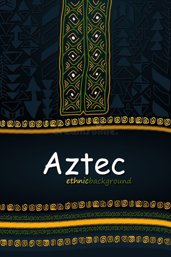 Aztek lub Afrykański pociągany ręcznie pochodzenie etniczne Abstrakcjonistyczny Plemienny V royalty ilustracja