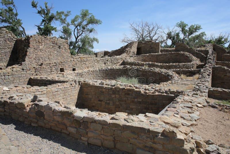 Aztek Rujnuje Krajowego zabytek w Nowym - Mexico, usa obrazy royalty free