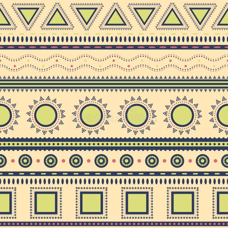 Azteka bezszwowy wzór. ilustracji