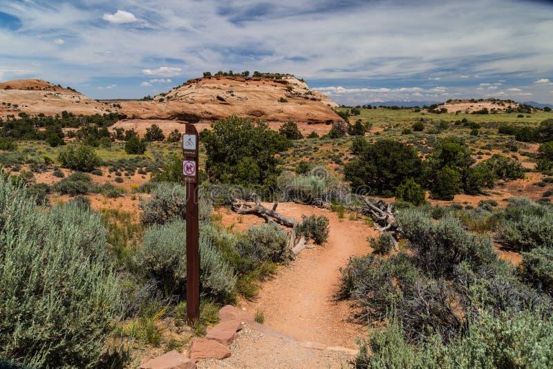 Azteka Butte Trailhead, Canyonlands obrazy royalty free