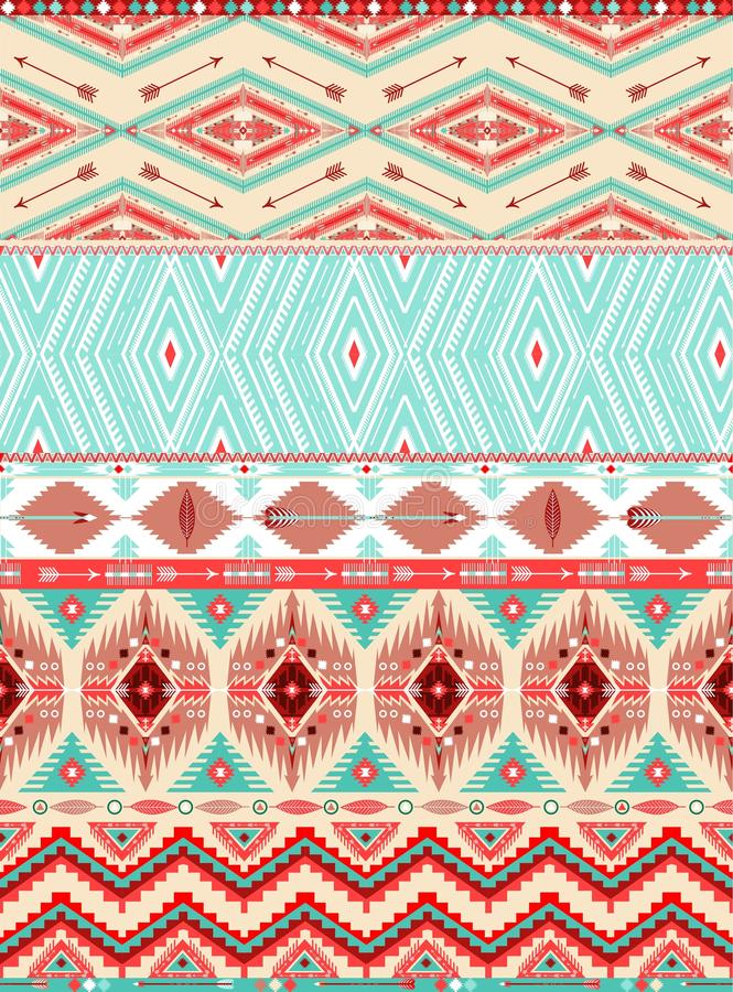 Azteka geometryczny bezszwowy wzór royalty ilustracja