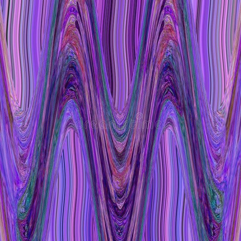 Azteka plemienny fiołkowy tło z liquide zygzag ilustracji