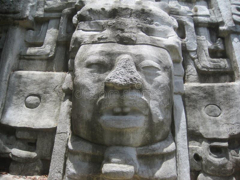 Aztekische Ruine stockbilder