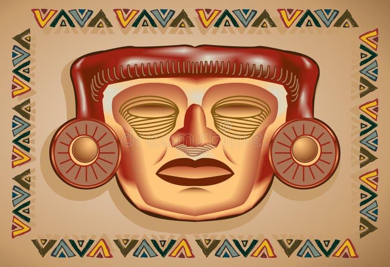 Aztekische Schablone lizenzfreie abbildung