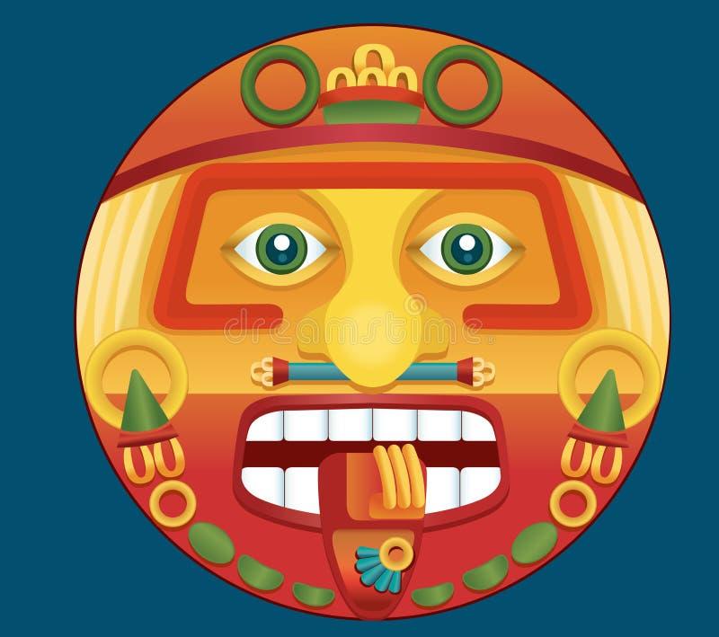 Aztekischer Kalender vektor abbildung