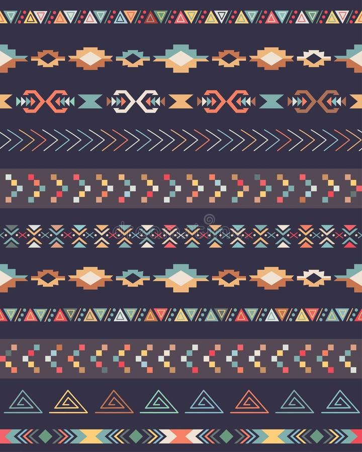 AZTEKISCHES Muster stock abbildung
