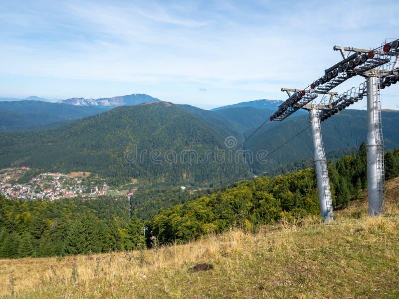 Azuga gondola, Romania immagini stock libere da diritti
