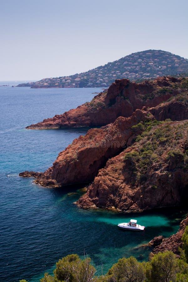 Azuis celestes da costa d, França fotografia de stock royalty free