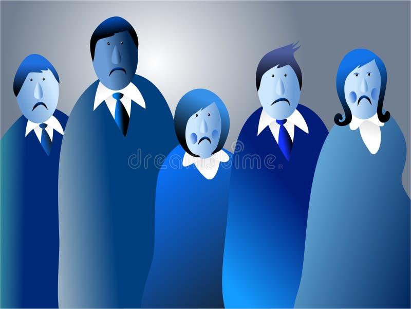 Azuis da equipe ilustração royalty free