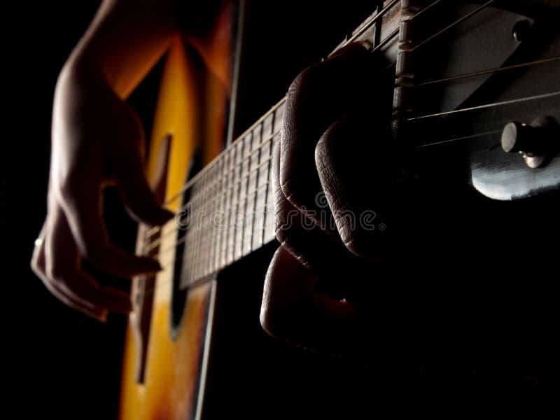 Azuis da guitarra fotografia de stock