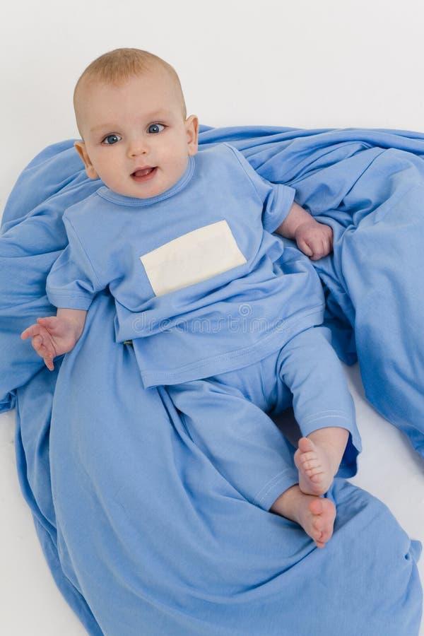 Azuis de bebê demasiado fotografia de stock