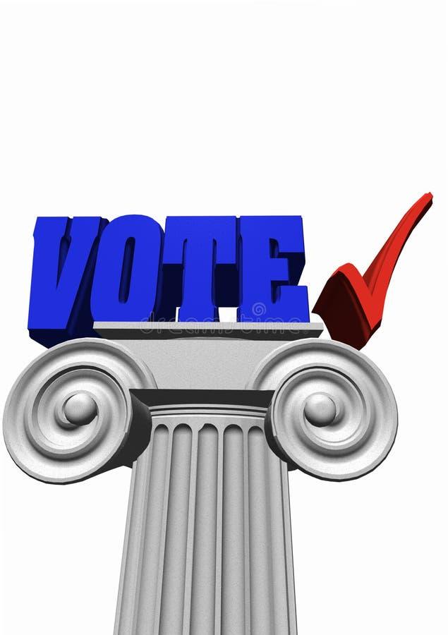 Azul 1 de Colomn do voto ilustração stock