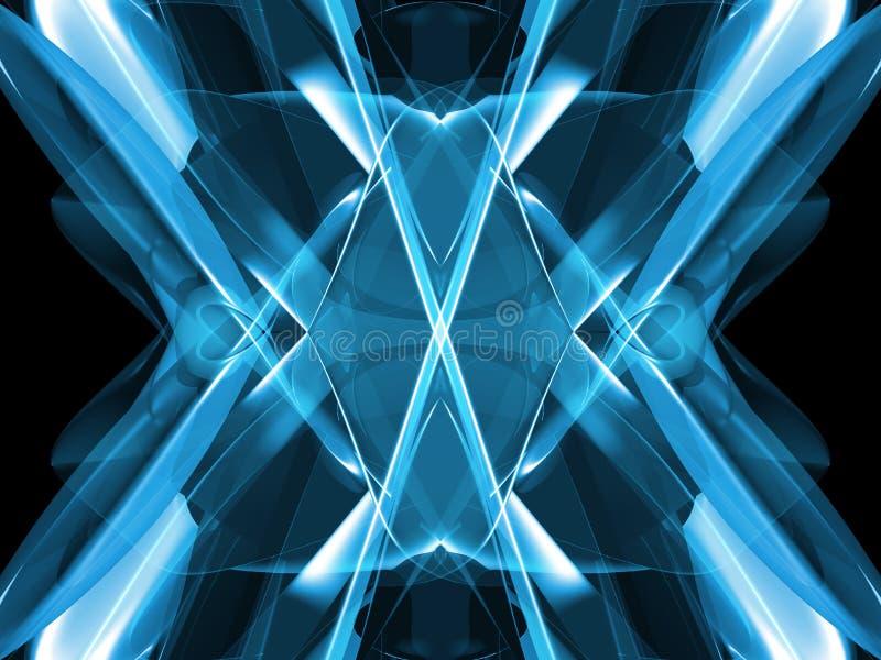 Azul abstracto ilustración del vector