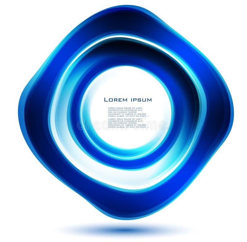 Azul abstracto del círculo del vector curva ilustración del vector