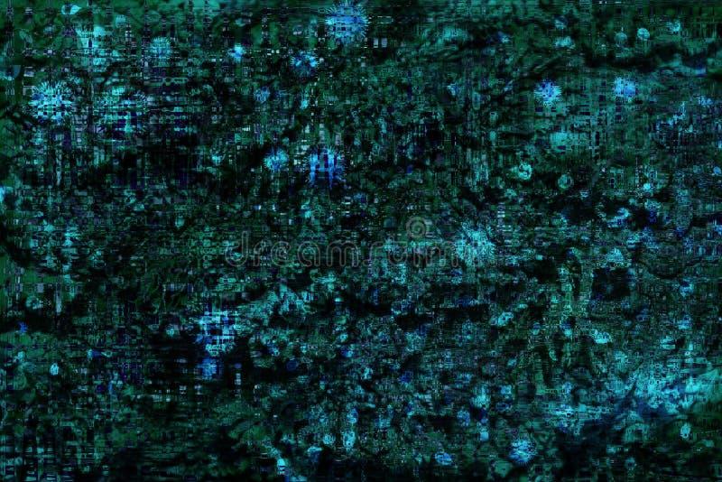 Azul abstracto del fondo del steampunk del vintage, gran diseño para cualquier propósitos ilustración del vector