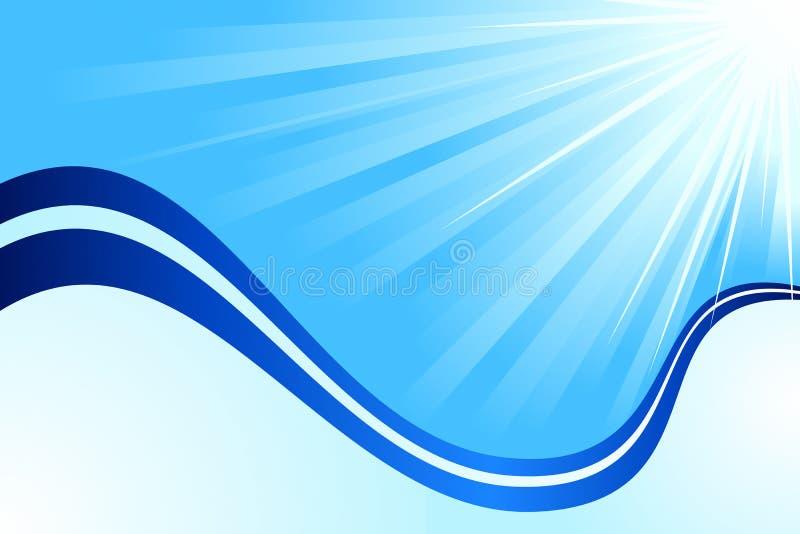 Azul abstrato ilustração do vetor