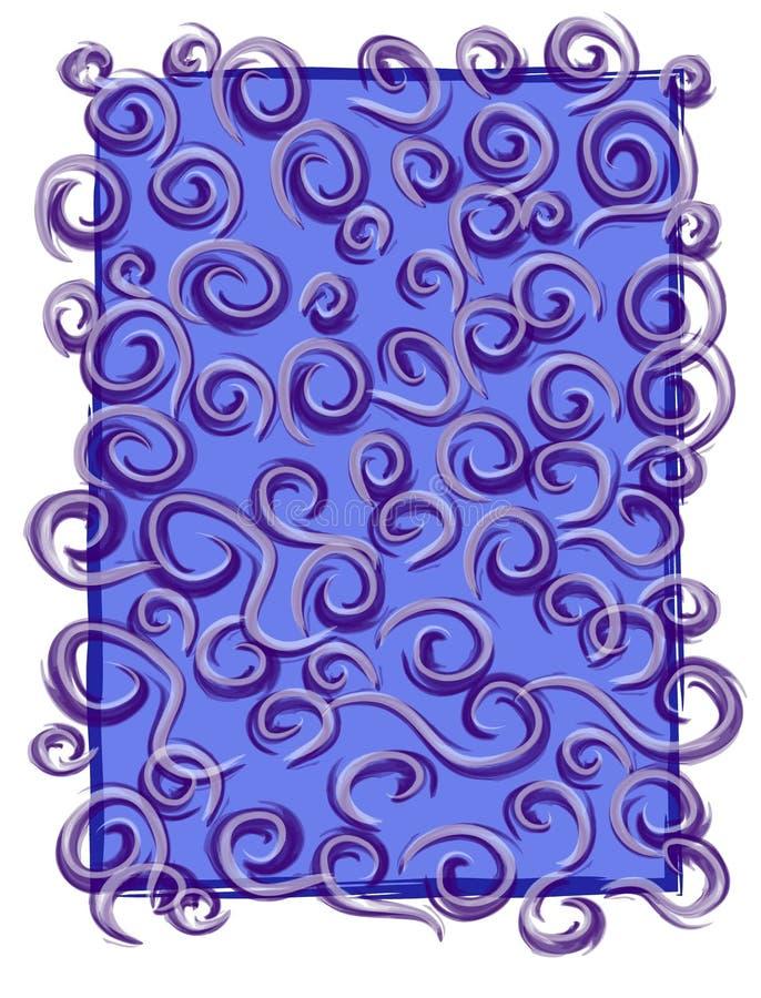 Azul abstrato do teste padrão da textura ilustração do vetor