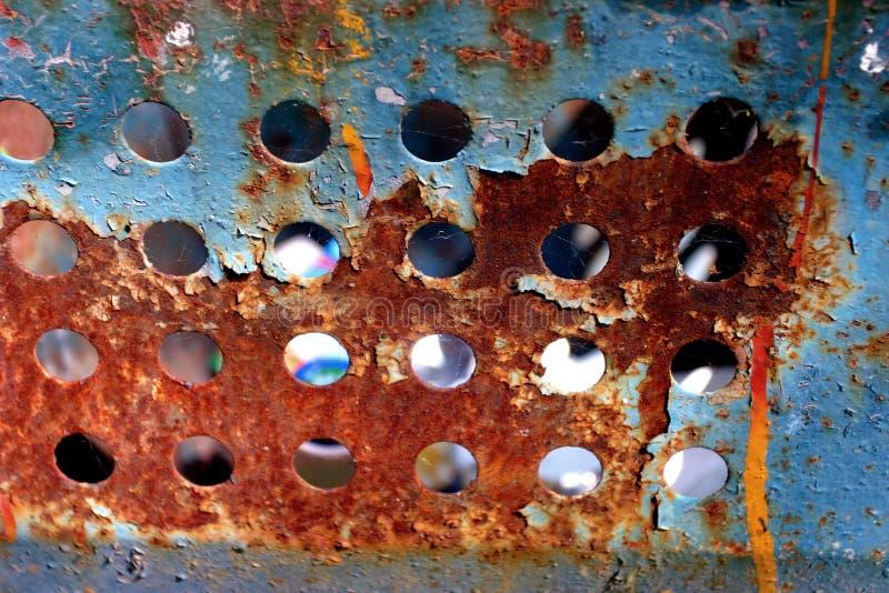 Azul alaranjado oxidado fotografia de stock royalty free