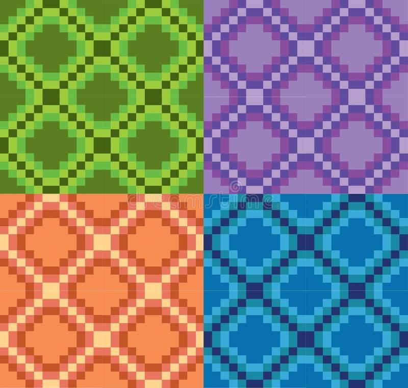 Azul anaranjado púrpura del modelo del verde modular del vector imagen de archivo