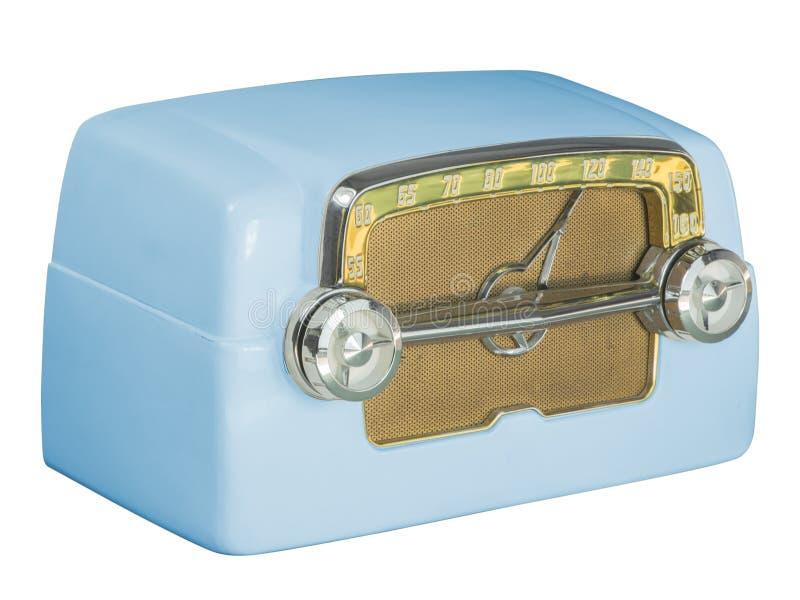 Azul antigo do rádio 07 do tubo da baquelite foto de stock royalty free