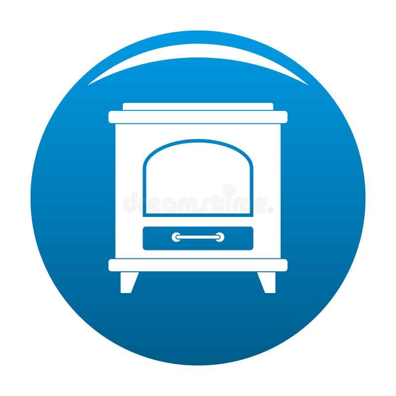 Azul antiguo del icono del horno stock de ilustración