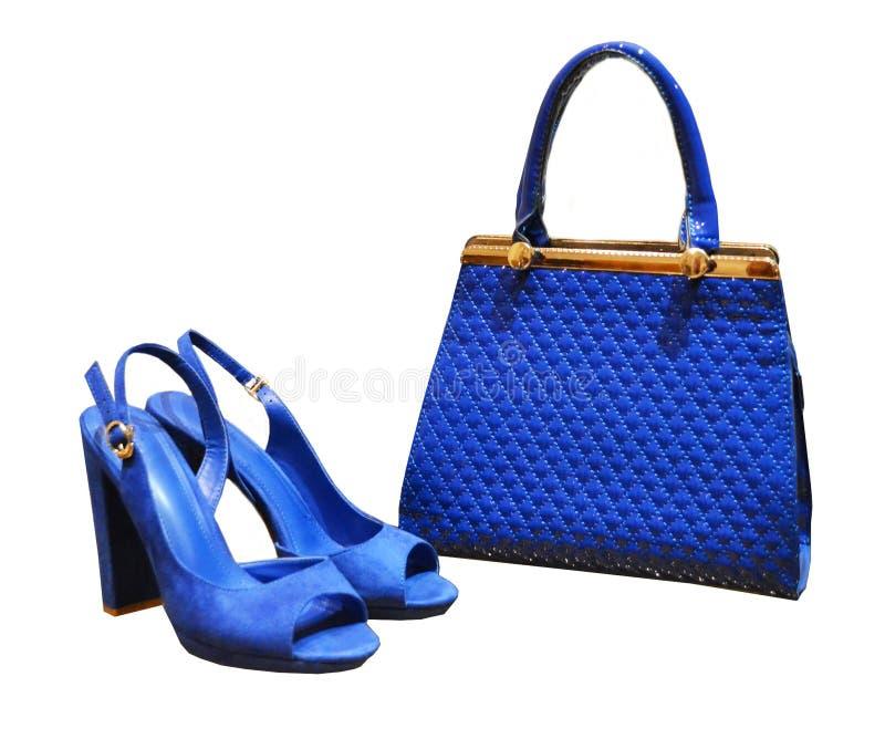 Azul bonde da fita, este saco-boucle do totalizador do ` s das mulheres com um metall imagens de stock royalty free