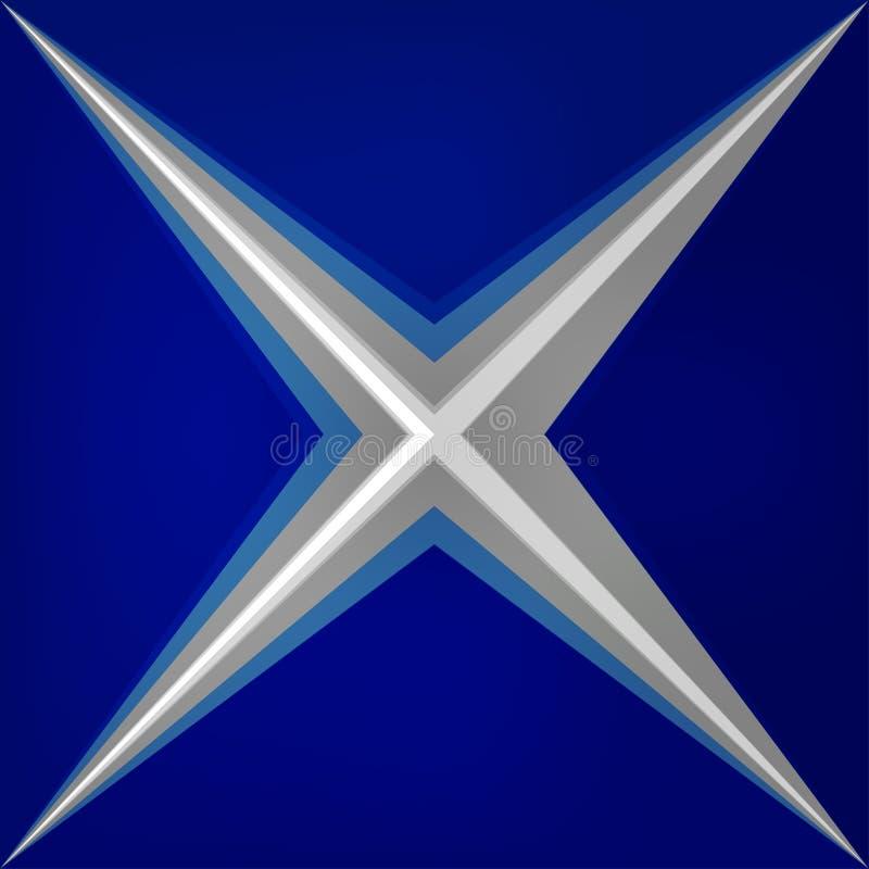 Azul brillante de los triángulos abstractos de la geometría del vector stock de ilustración