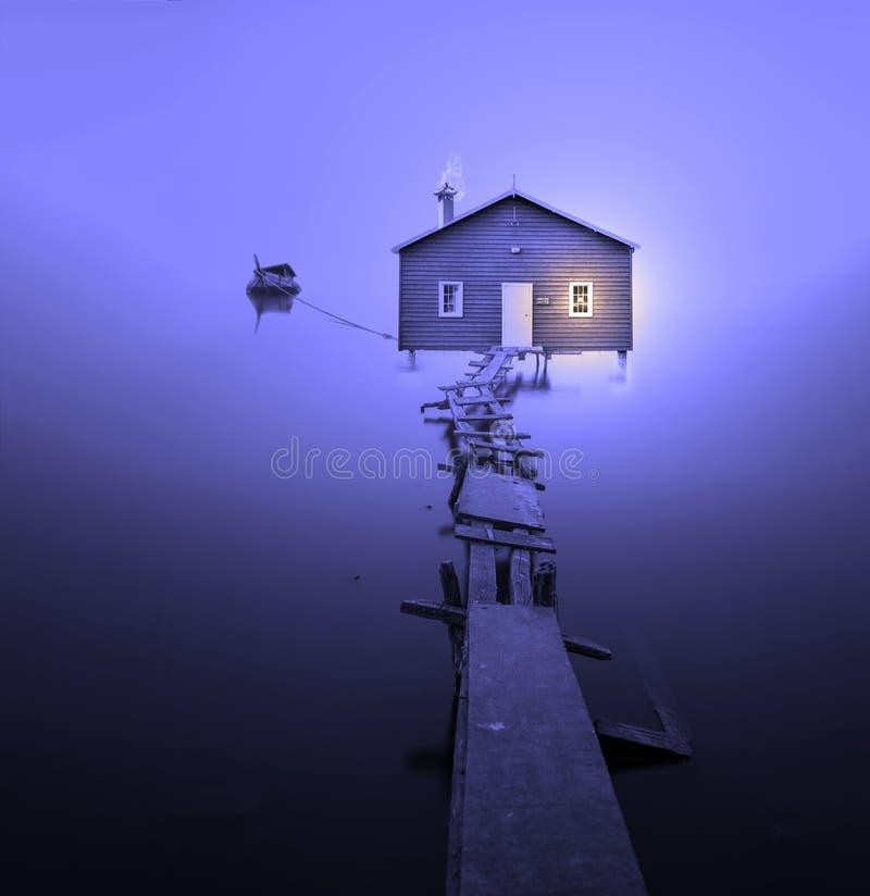 Azul, céu, luz, roxo fotografia de stock