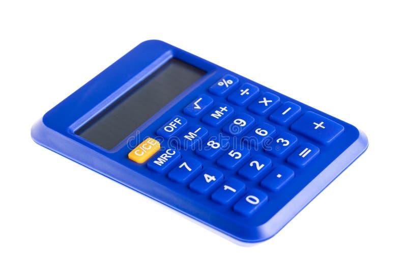 Azul a calculadora imagens de stock
