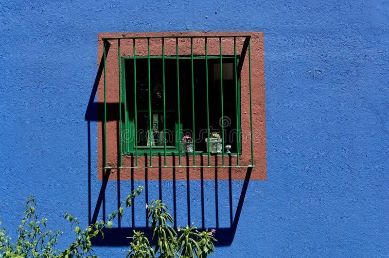 azul casa okno obraz royalty free