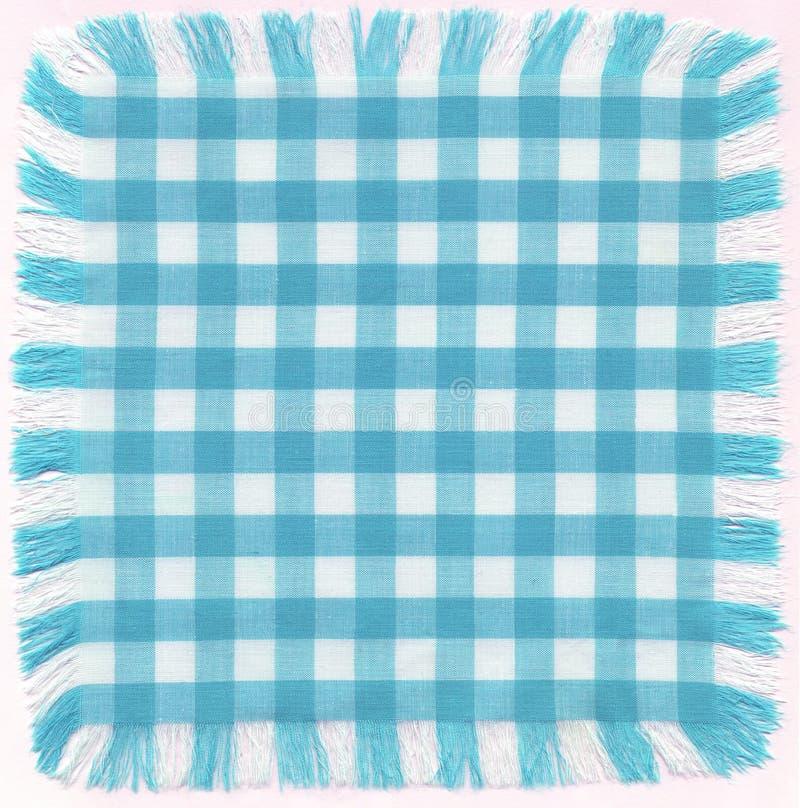 Azul checkered ilustração do vetor