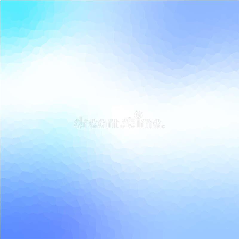 Azul claro cristalice el fondo abstracto libre illustration