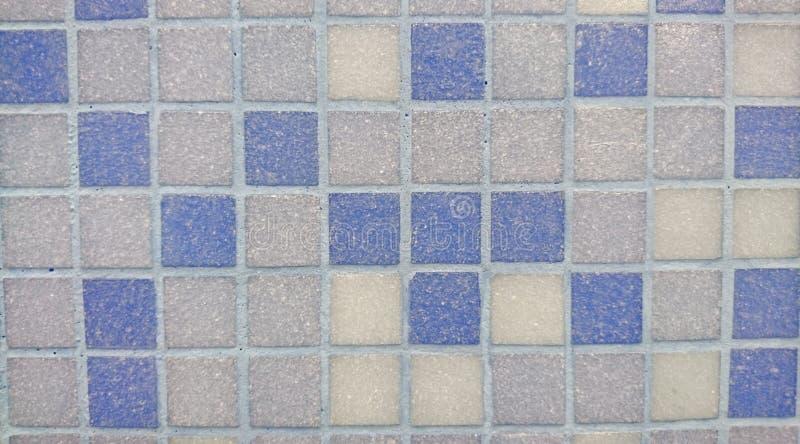 Azul claro cuadrado y Grey Tiles del vintage imagen de archivo