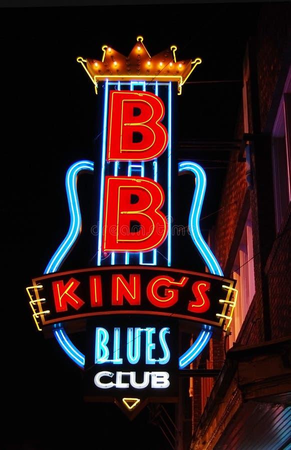 Azul Clube do BB do rei, Memphis imagens de stock royalty free