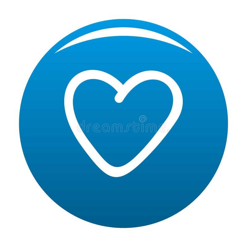 Azul codicioso del icono del corazón stock de ilustración