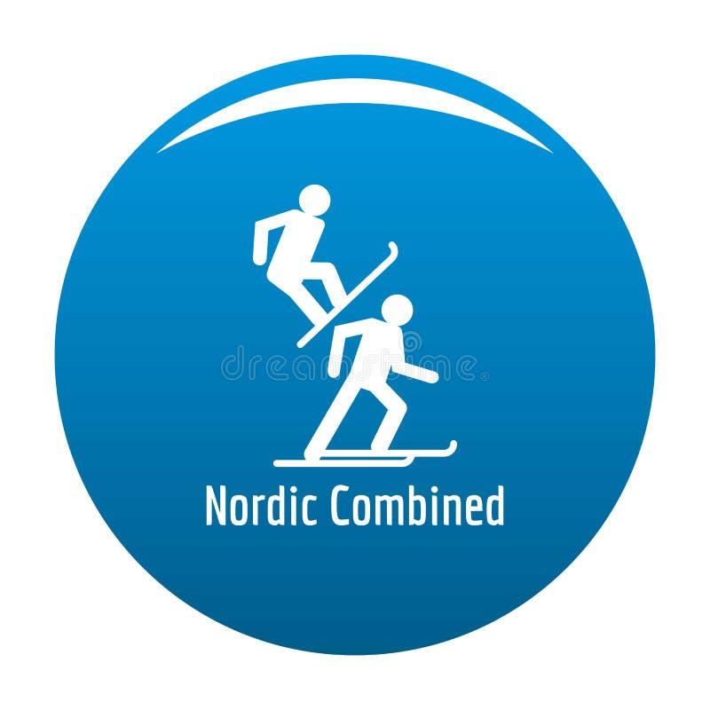 Azul combinado nórdico del icono stock de ilustración