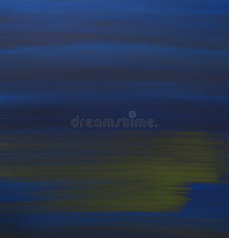 Azul con el musgo verde ilustración del vector